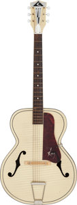 Musical Instruments:Acoustic Guitars, Circa 1950's-1960's Kay White Archtop Acoustic Guitar, Serial # N/A....
