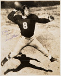 Football Collectibles:Photos, Circa 1938 David O'Brien Signed Photograph....