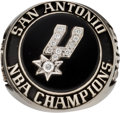 Basketball Collectibles:Others, 2005 San Antonio Spurs NBA Championship Employee Ring. . ...