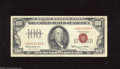 Small Size:Legal Tender Notes, Fr. 1550* $100 1966 Legal Tender Star Note. Fine. This rarity from the late 1960s has a small amount of red rubber stamp in...