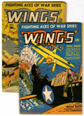 Golden Age (1938-1955):War, Wings Comics #37 and 39 Group (Fiction House, 1943) Condition:Average VG-.... (Total: 2 Comic Books)