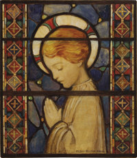 JESSIE WILLCOX SMITH (American 1863 - 1935) Child Praying, 1920, original cover illustration for Good Housekeeping,&...