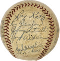 Autographs:Baseballs, 1955 New York Giants Team Signed Baseball. This fine ONL (Giles) orb has been adorned with the signatures of 21 players fro...