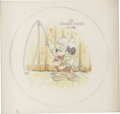 Illustration:Advertising, AMERICAN ILLUSTRATOR (20th Century) . Mickey Mouse Club,original collectible plate illustration . Colored pencil on boa...(Total: 2 Items)