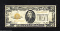 Small Size:Gold Certificates, Fr. 2402 $20 1928 Gold Certificate. Very Fine. When the United States went off the Gold Standard in 1933, it was made illeg...