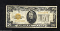 Small Size:Gold Certificates, Fr. 2402 $20 1928 Gold Certificate. Fine. Add a new color to your collection by acquiring Gold Certificates. This $20 is fr...