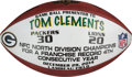Football Collectibles:Balls, 2014 Green Bay Packers Football Presented to Coach for Franchise Record 4th Straight Division Championship....