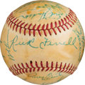 Autographs:Baseballs, Circa 1978 Hall of Famers & Stars Signed Baseball....