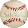 Autographs:Baseballs, Circa 1945 Babe Ruth, Ted Williams, Rabbit Maranville, Dom DiMaggio& Red Barrett Signed Baseball....
