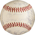 Autographs:Baseballs, 1961 New York Yankees Signed Baseball with Mickey Mantle &Roger Maris....