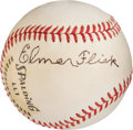 Autographs:Baseballs, 1960's Elmer Flick Single Signed Ball, PSA/DNA NM-MT 8.. ...