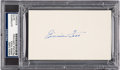 Autographs:Index Cards, Circa 1940 Jimmie Foxx Signed Index Card, PSA/DNA Authentic....