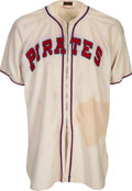 Baseball Collectibles:Uniforms, Circa 1946 Honus Wagner Game Worn Pittsburgh Pirates Coach'sJersey.. ...