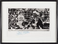 Baseball Collectibles:Photos, Circa 1990 Mickey Mantle Signed Robert Riger Oversized Photograph....