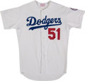 Baseball Collectibles:Uniforms, 1980 Terry Forster Game Worn Los Angeles Dodgers Jersey. . ...