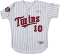 Baseball Collectibles:Uniforms, 2001 Tom Kelly Signed Game Worn Minnesota Twins Jersey.. ...