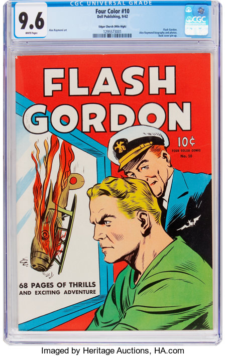 Four Color #10 Flash Gordon - Mile High Pedigree (Dell, 1942) CGC NM+ 9.6 White pages....