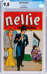 Nellie the Nurse #2 Mile High Pedigree (Marvel, 1946) CGC NM/MT 9.8 White pages