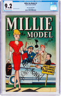 Millie the Model #3 Mile High Pedigree (Marvel, 1946) CGC NM- 9.2 Off-white to white pages