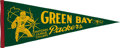 """Football Collectibles:Others, Circa 1961 Green Bay Packers """"National League Champs"""" Pennant. ..."""