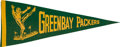 Football Collectibles:Others, Circa 1940's Green Bay Packers Pennant. ...