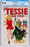 Golden Age (1938-1955):Humor, Tessie the Typist #10 Mile High Pedigree (Timely, 1947) CGC NM 9.4 White pages....