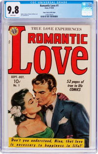 Romantic Love #1 Mile High Pedigree (Avon, 1949) CGC NM/MT 9.8 White pages