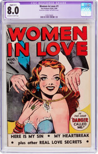 Women in Love #1 (Fox Features Syndicate, 1949) CGC Apparent VF 8.0 Slight (C-1) Off-white to white pages