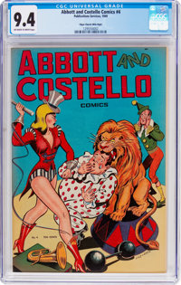 Abbott and Costello #4 Mile High Pedigree (St. John, 1948) CGC NM 9.4 Off-white to white pages