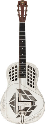 Cira 1930-1933 National Style 2 Tricone Nickel Resonator Guitar, Serial # S6080