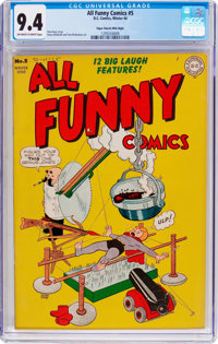 All Funny Comics #5 Mile High Pedigree (DC, 1944) CGC NM 9.4 Off-white to white pages