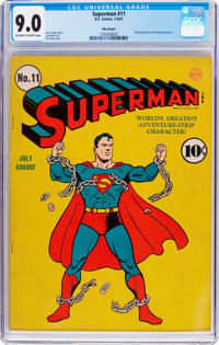 Superman #11 Billy Wright Pedigree (DC, 1941) CGC VF/NM 9.0 Off-white to white pages