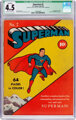 Superman #2 Billy Wright pedigree (DC, 1939) CGC Qualified VG+ 4.5 Off-white to white pages