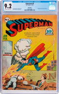 Golden Age (1938-1955):Superhero, Superman #8 Billy Wright Pedigree (DC, 1941) CGC NM- 9.2 Off-white to white pages....