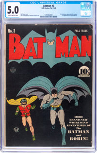 Batman #3 (DC, 1940) CGC VG/FN 5.0 Slightly brittle pages