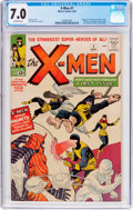 Silver Age (1956-1969):Superhero, X-Men #1 (Marvel, 1963) CGC FN/VF 7.0 Off-white pages....
