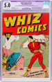 Whiz Comics #2 (#1) (Fawcett Publications, 1940) CGC Apparent VG/FN 5.0 Moderate (B-3) Off-white to white pages