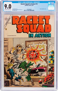 Racket Squad in Action #12 (Charlton, 1954) CGC VF/NM 9.0 Off-white to white pages