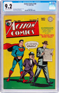 Golden Age (1938-1955):Superhero, Action Comics #100 (DC, 1946) CGC NM- 9.2 Off-white to white pages....