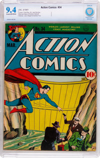 Action Comics #34 (DC, 1941) CBCS NM 9.4 Cream to off-white pages