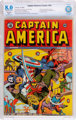 Captain America Comics #18 (Timely, 1942) CBCS Restored VF 8.0 Slight (P) Off-white to white pages