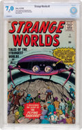 Silver Age (1956-1969):Science Fiction, Strange Worlds #1 (Atlas, 1958) CBCS FN/VF 7.0 White pages....
