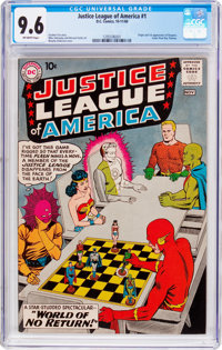 Justice League of America #1 (DC, 1960) CGC NM+ 9.6 Off-white pages