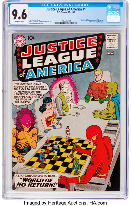 Justice League of America #1 (DC, 1960) CGC NM+ 9.6 Off-white pages....