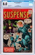 Silver Age (1956-1969):Science Fiction, Tales of Suspense #1 (Atlas, 1959) CGC VF 8.0 Cream to off-whitepages....