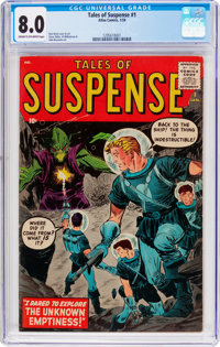 Tales of Suspense #1 (Atlas, 1959) CGC VF 8.0 Cream to off-white pages