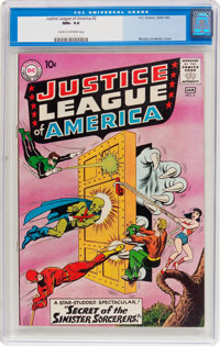 Justice League of America #2 (DC, 1961) CGC NM+ 9.6 Cream to off-white pages
