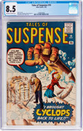Silver Age (1956-1969):Science Fiction, Tales of Suspense #10 (Marvel, 1960) CGC VF+ 8.5 Off-white to whitepages....