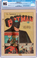 Golden Age (1938-1955):Superhero, Batman #1 Coverless - Incomplete (DC, 1940) CGC PR 0.5 Off-white to white pages....