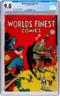 Golden Age (1938-1955):Superhero, World's Finest Comics #31 (DC, 1947) CGC VF/NM 9.0 Cream to off-white pages....